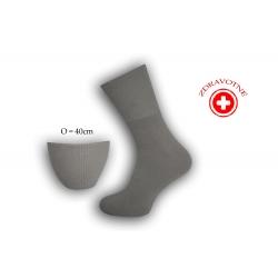 Bambusové ponožky na opuchnuté nohy - bl.sivé