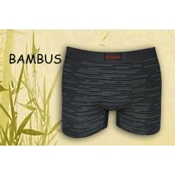 Tmavo sivé bambusové boxerky