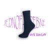 Kvalitné dámske vysoké modré ponožky bavlnené