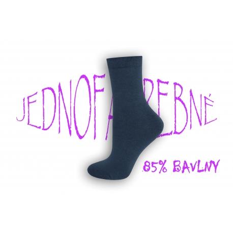 Bavlnené dámske super vysoké ponožky na nožky