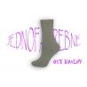Kvalitné dámske super bavlnené vysoké ponožky v sivej farbe
