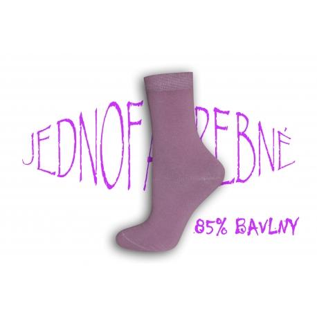 Dámske bavlnené kvalitné fialové ponožky vysoké