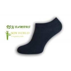 95%-né bambusové členkové ponožky - modrá