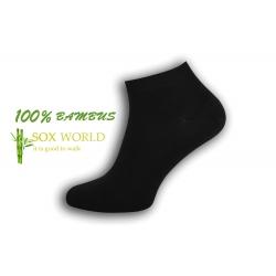 IBA 43-46! 100%-né čierne bambusové ponožky