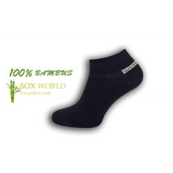 95%-né bambusové modré ponožky so vzorom