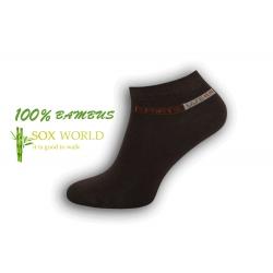PREMIUM. 100% bambusové hnedé ponožky