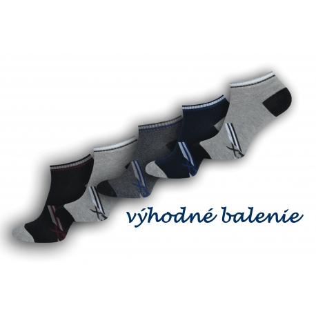 5-párov lacných členkových ponožiek