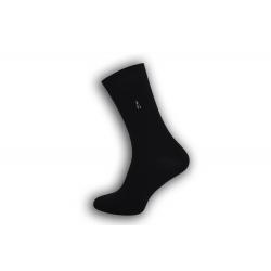 IBA 43-46! Čierne bavlnené pánske ponožky