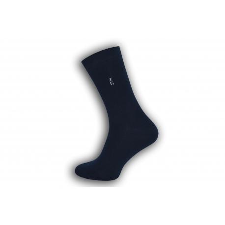 IBA 43-46! Modré bavlnené pánske ponožky