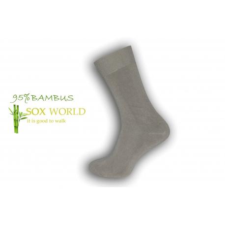 Luxusné 95%-né bambusové ponožky - béžové