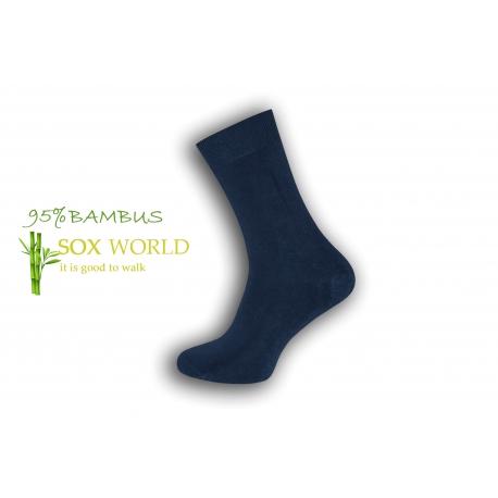 Luxusné 95%-né bambusové ponožky - modré