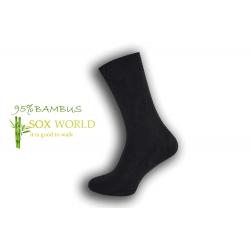 Luxusné 95%-né bambusové ponožky - tm.sivé