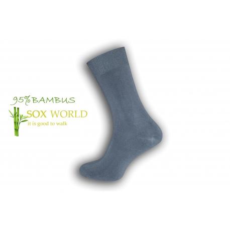 Luxusné 95%-né bambusové ponožky - sivé
