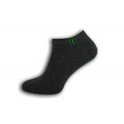 Komfortné pánske krátko ponožky - tm. sivé