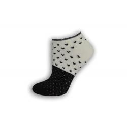 Čierno biele krátke dámske ponožky