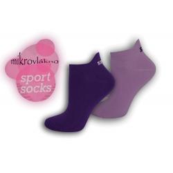 Športové neónové ponožky z mikrovlákna - fialové