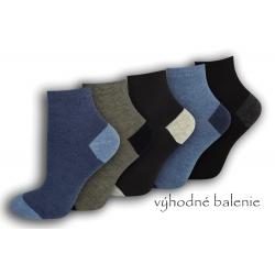 Dámske bavlnené tmavé ponožky - 5 párov