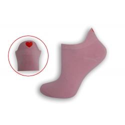 Ružové krátke ponožky so srdiečkom