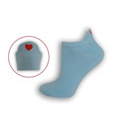 Bl. modré krátke ponožky so srdiečkom