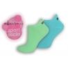 Športové neónové ponožky z mikrovlákna - tyrkys