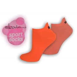 Športové neónové ponožky z mikrovlákna - orange