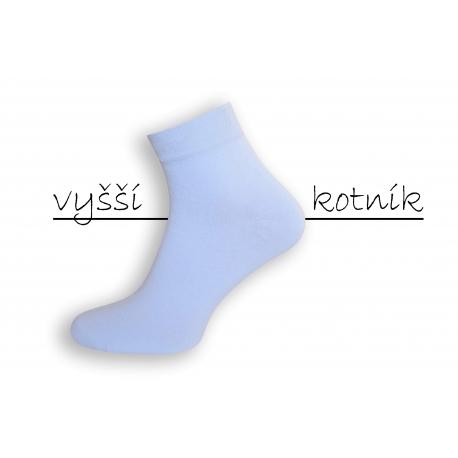 IBA 43-46! Biele pánske ponožky - vyšší kotník