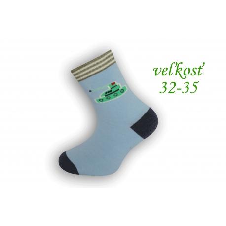 Bledo-modré chlapčenské ponožky
