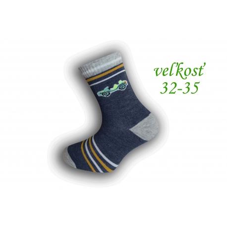 TM. modré detské ponožky s autom