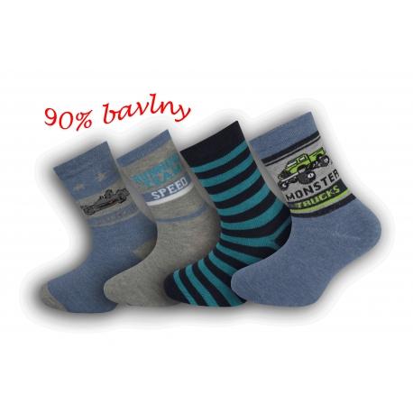 4 - páry bavlnených detských ponožiek