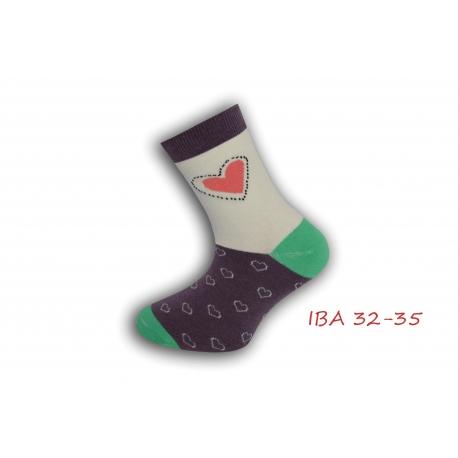 IBA 32-35! Ponožky pre dievča so srdiečkom