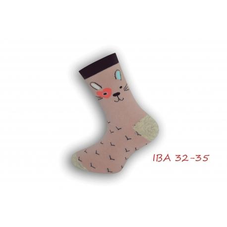 IBA 32-35! Púdrové bavlnené ponožky pre dievča