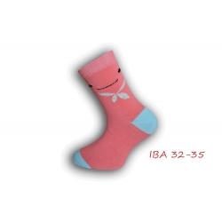 IBA 32-35! Dievčenské bavlnené ponožky