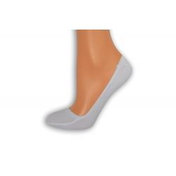 Biele bambusové ponožky do balerín