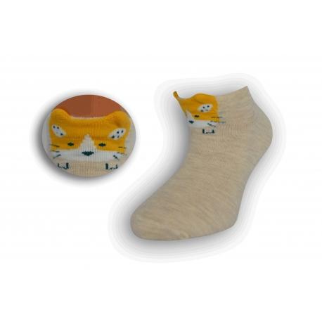 Detské krátke ponožky s mačičkou