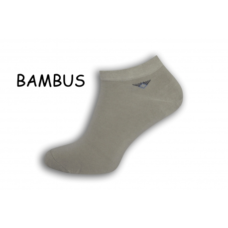 Členkové bambusové pánske ponožky - sivé