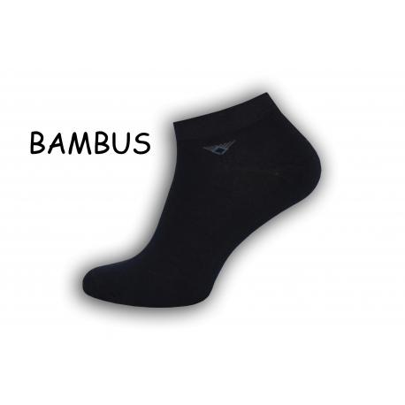 Modré bambusové pánske ponožky