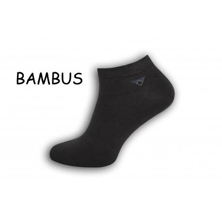 Členkové bambusové pánske ponožky – tm.sivé