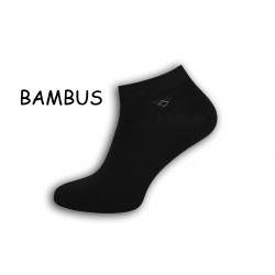 Členkové bambusové pánske ponožky – čierne