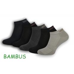 Členkové bambusové ponožky - 5 párov