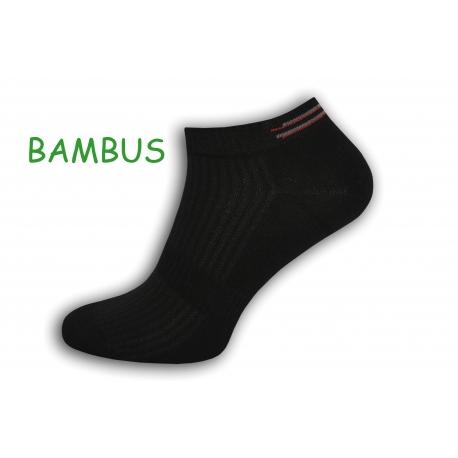 Čierne bambusové krátke ponožky