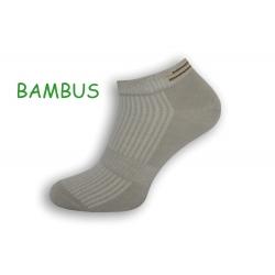 Sivé bambusové pánske ponožky