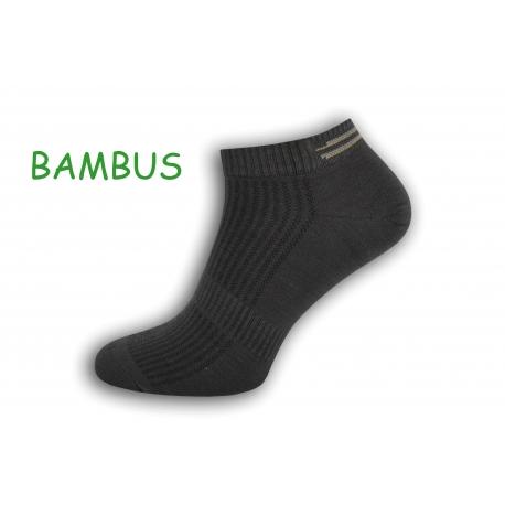 Tm. sivé bambusové pánske ponožky