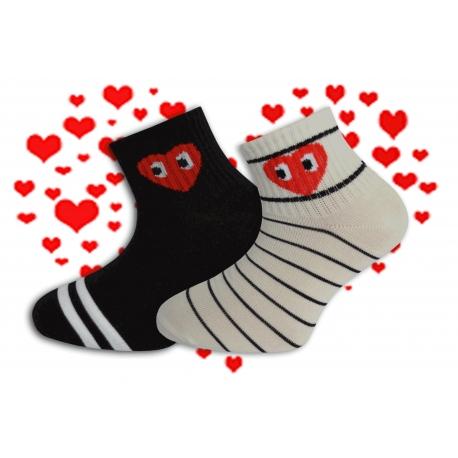 Dievčenské ponožky so srdiečkom . 2-páry