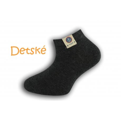 Antracitové krátke detské ponožky