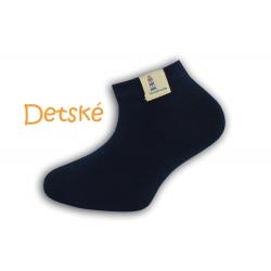 Tm. modré krátke detské ponožky