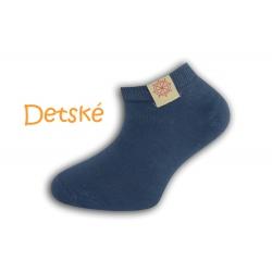 Modré krátke detské ponožky