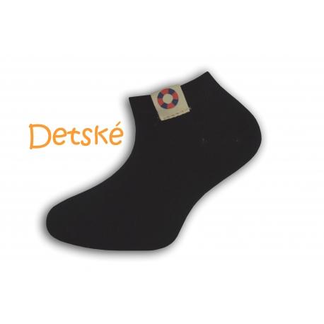 Čierne krátke detské ponožky