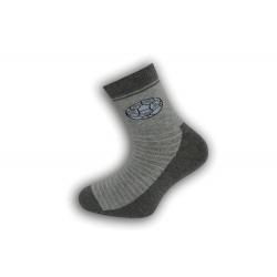Sivé chlapčenské ponožky