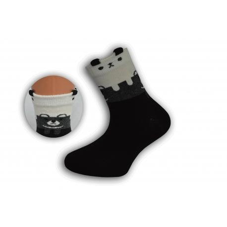 Čierne detské obrázkové ponožky