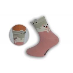 Ružové detské obrázkové ponožky